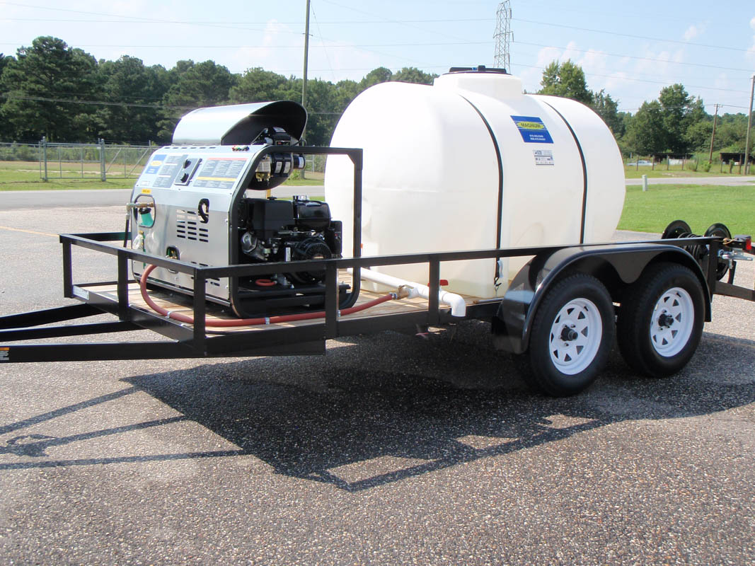 500 Gallon Water Tank >> Magnum 3000 Psi 3 9 Gpm Trailer Unit With 500 Gallon Water Tank
