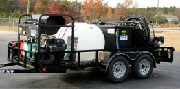 Hot Water Pressure Washer Capture & Recycle Rig Portable Trailer System