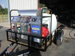 trailer hot water machine